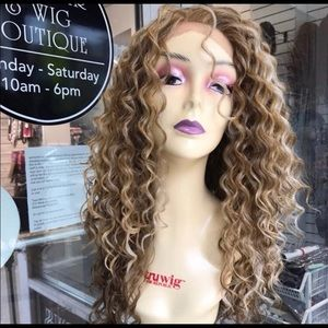 Blonde curly Wig Long Best quality price 2019 styl